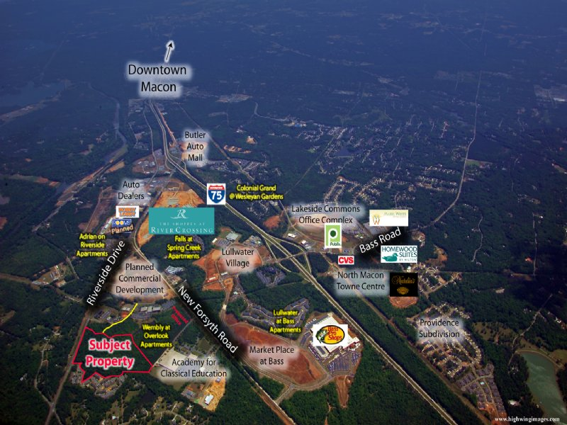 24 Acre Development Site : Macon : Bibb County : Georgia