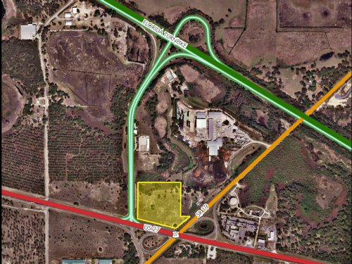 13ac Hwy 27 & Florida Turnpike : Groveland : Lake County : Florida