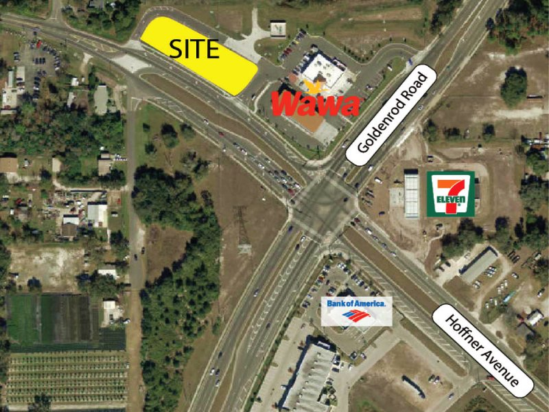 Pad-Ready Outparcel Next To Wawa : Orlando : Orange County : Florida