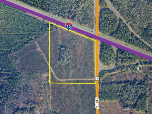 40Ac 1-10 & Cr 137 Interchange Land : Wellborn : Suwannee County : Florida