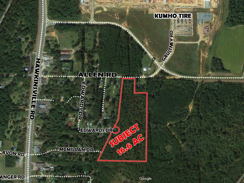 16.60 Acres Allen Road : Macon : Bibb County : Georgia