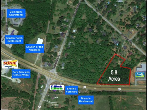 Commercial Development Site : Barnesville : Lamar County : Georgia