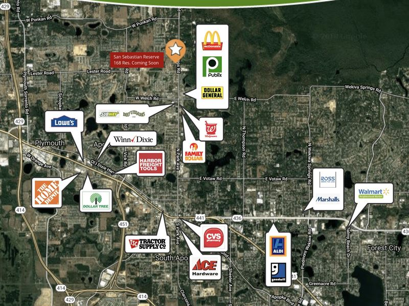 3.5 Acres Commercial / Retail Site : Apopka : Orange County : Florida