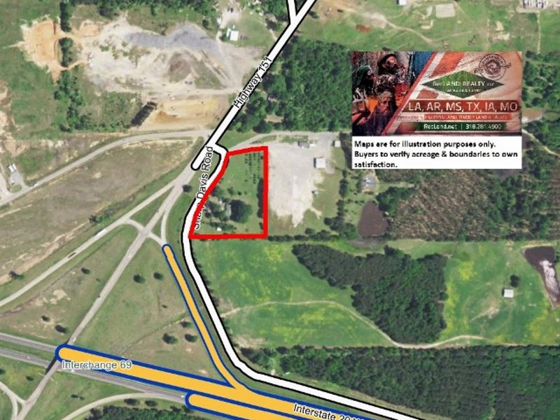 4 Ac, Commercial Site On Interstat : Arcadia : Bienville Parish : Louisiana