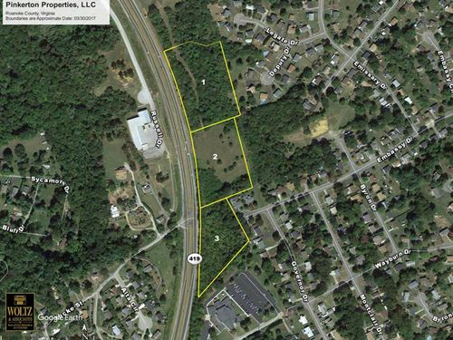 Prime Commercial Land Salem Va : Salem : Roanoke County : Virginia