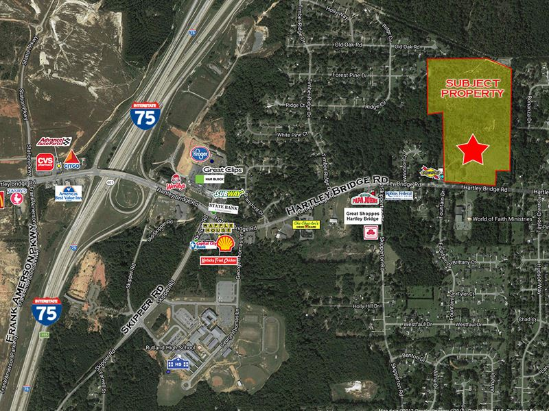 49 Ac Multifamily Land : Macon : Bibb County : Georgia
