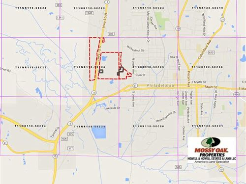 Tracts 1 & 2, 170 Acres of Prime : Philadelphia : Neshoba County : Mississippi