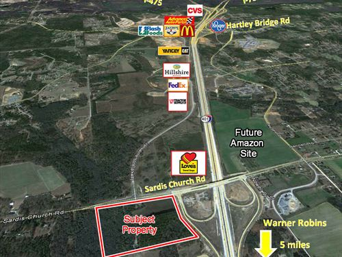 30 Ac Across From Amazon For Sale : Macon : Bibb County : Georgia