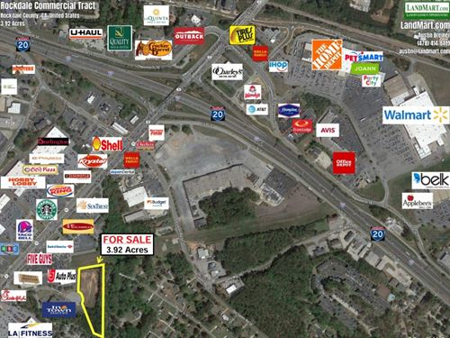 Prime Commercial Lot : Conyers : Rockdale County : Georgia