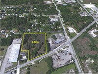 3.82 Acres Fenced Industrial Land : Fort Pierce : Saint Lucie County : Florida