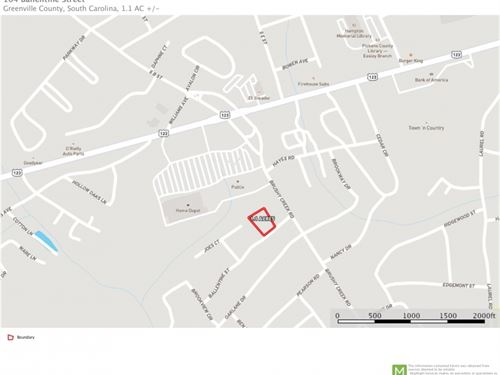 Commercial Lot Available In Easley : Easley : Pickens County : South Carolina