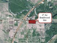 47 Acre Braidwood Development Site : Braidwood : Will County : Illinois
