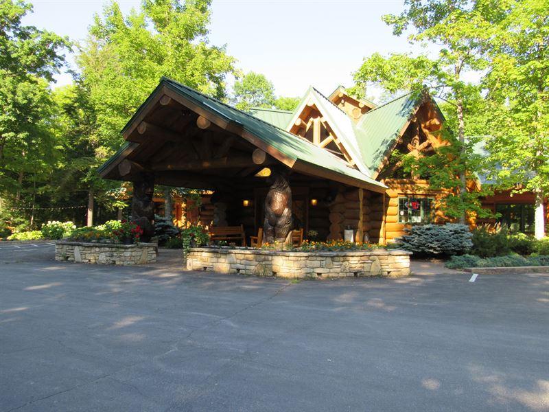 Hand-Carved Log Masterpiece : Egg Harbor : Door County : Wisconsin