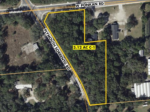 3.12 Acre Apopka C-1 Commercial : Apopka : Orange County : Florida