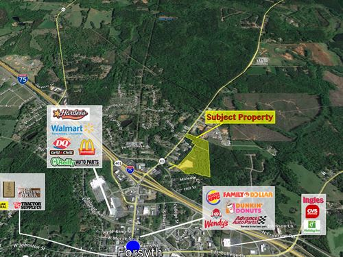 Large Commercial Tract In Monroe Co : Forsyth : Monroe County : Georgia