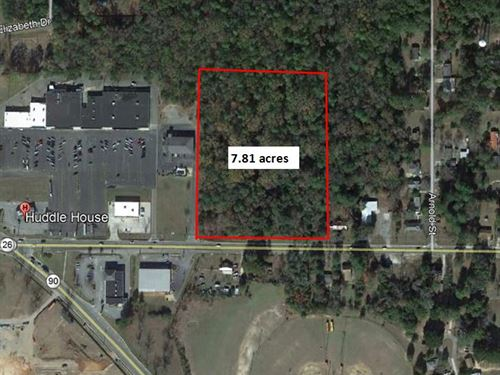 Great 7.81 Acre Commercial Lot : Montezuma : Macon County : Georgia