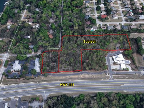 5.89 Ac Of Commercial On Hwy 441 : Eustis : Lake County : Florida