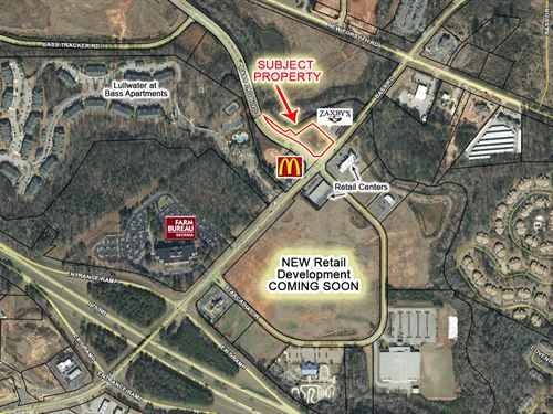 1.56 Ac Across From Approved Retail : Macon : Bibb County : Georgia
