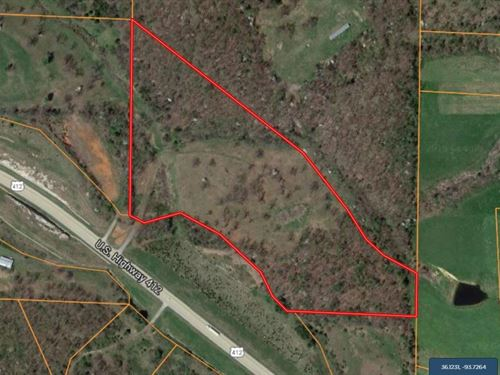 21 Acres Hwy 412 Frontage Prime : Huntsville : Madison County : Arkansas