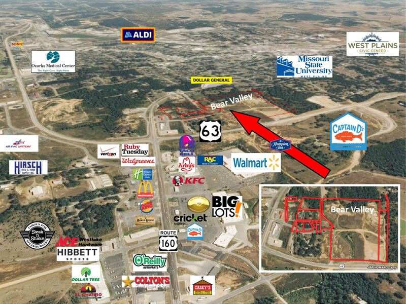 Commercial Property Missouri Ozarks : West Plains : Howell County : Missouri