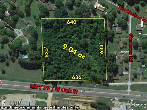 Acreage Busy Highway Frontage : Palestine : Anderson County : Texas