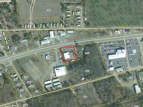 Metal Commercial Building 2.5 Acres : Hagan : Evans County : Georgia