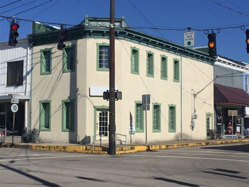 Commercial Bldg, Corner Downtown : Liberty : Casey County : Kentucky