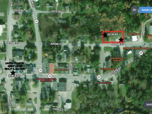 Vacant Property Near Atlanta MI : Atlanta : Montmorency County : Michigan