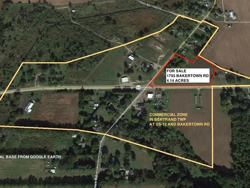4.14 Acres Mostly Vacant Land : Buchanan : Berrien County : Michigan
