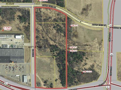 Commercial Tif Development Land : Waupaca : Wisconsin