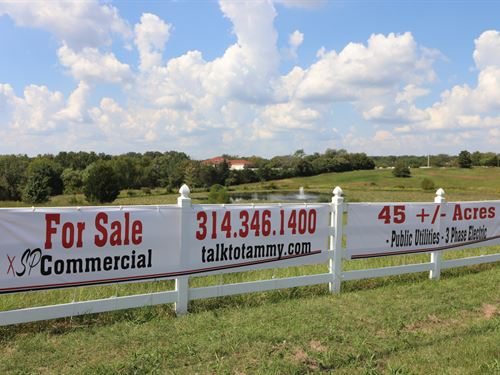 Equestrian Farm / Commercial Land : Hillsboro : Jefferson County : Missouri