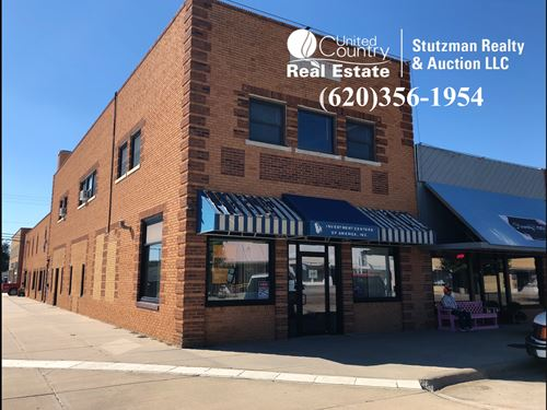 Historic Downtown Row Building : Ulysses : Grant County : Kansas