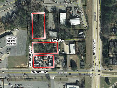 Reduced, 10 Parcels On 1.34 Acres : Macon : Bibb County : Georgia