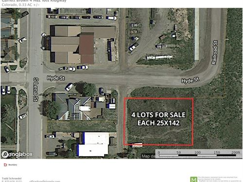 Four Multi-Use Lots Downtown : Ridgway : Ouray County : Colorado