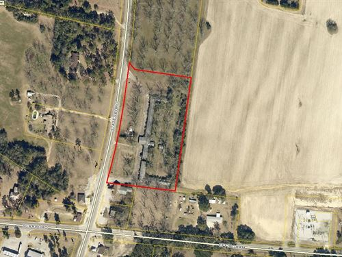 4.97 Acres Commercial Land : Cooperville : Screven County : Georgia