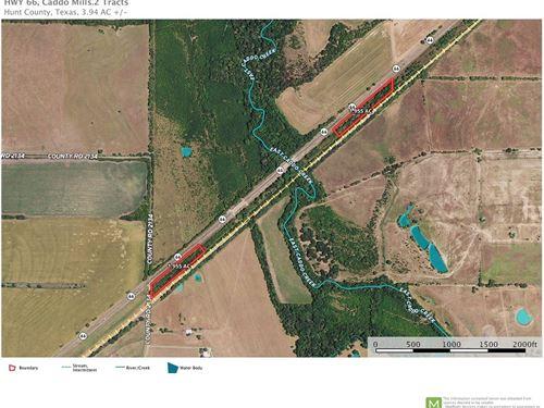 2 Tracts Caddo Mills, Texas Hwy 66 : Caddo Mills : Hunt County : Texas