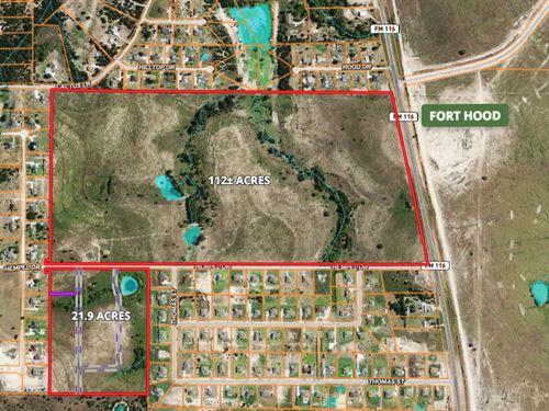 Prime Development Land : Copperas Cove : Coryell County : Texas