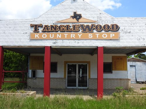 Cafe, Retail & Garage, Central Tx : Lexington : Lee County : Texas