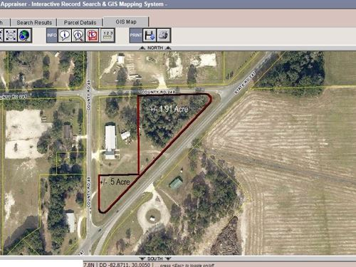 Great Location Corner State Road : O'brien : Suwannee County : Florida