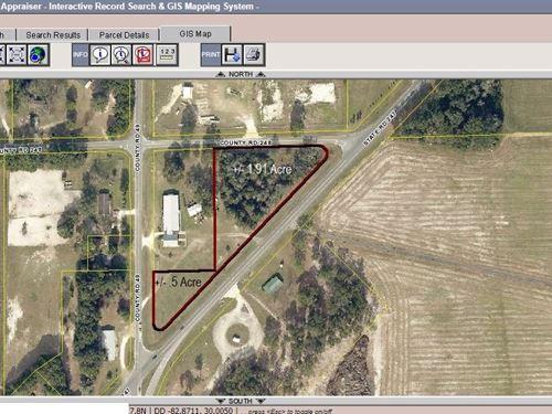 Great Location Corner State Road : O'brien : Suwannee County : Florida