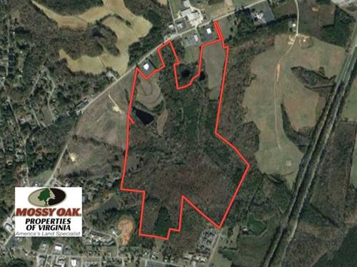 158 Acres of Commercial Land : South Hill : Mecklenburg County : Virginia
