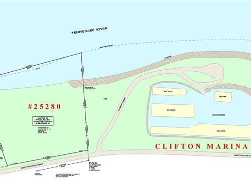 5.44 Acre Commercial TN River Bank : Clifton : Wayne County : Tennessee