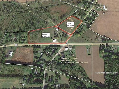 4.0 Acre Commercially Zoned, Vacant : Buchanan : Berrien County : Michigan