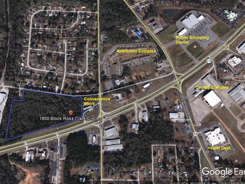 1,150' Frontage Ross Clark Circle : Dothan : Houston County : Alabama