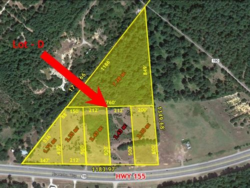 Great Commercial Land Parcels Hwy : Flint : Smith County : Texas