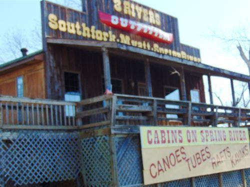 Canoe Rental Nighly Rental Cabins : Hardy : Sharp County : Arkansas