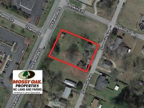.72 Acres of Commercial Land For : Roanoke Rapids : Halifax County : North Carolina
