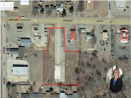 Vacant Commercial Lot College Town : Alva : Woods County : Oklahoma