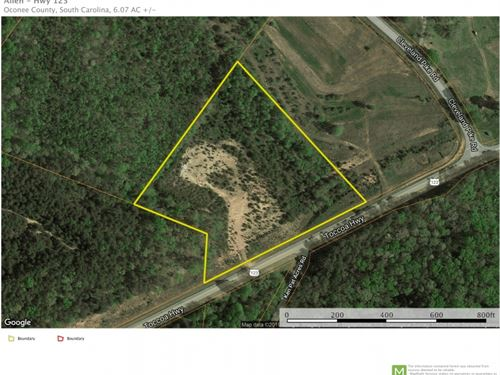 6.07 Acres Near Westminster, SC : Westminster : Oconee County : South Carolina