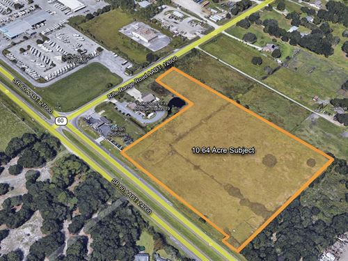 10.64 Comm / Industrial Land Hwy 60 : Bartow : Polk County : Florida